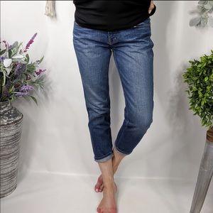 J BRAND Jeans Dark Wash Cropped Capri Length 0576